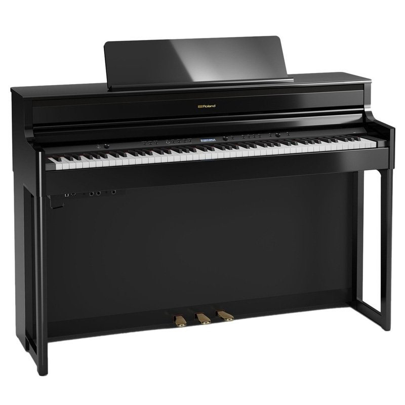 roland hp704 digital piano polished ebony free delivery price match guarantee. Black Bedroom Furniture Sets. Home Design Ideas
