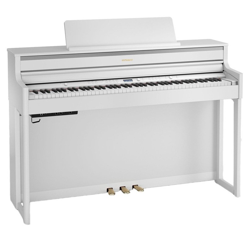 roland hp704 digital piano white free delivery price match guarantee. Black Bedroom Furniture Sets. Home Design Ideas