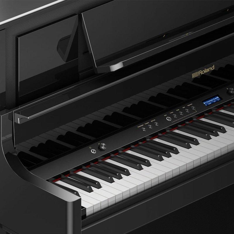 roland lx708 digital piano polished ebony free delivery price match guarantee. Black Bedroom Furniture Sets. Home Design Ideas