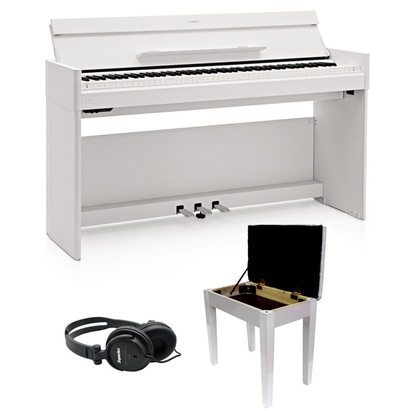 yamaha ydps54 digital piano bundle white free delivery price match guarantee. Black Bedroom Furniture Sets. Home Design Ideas