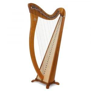 Camac Hermine 34 String Harp, Cherrywood
