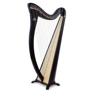 Camac Hermine 34 String Harp, Special Shiny Ebony