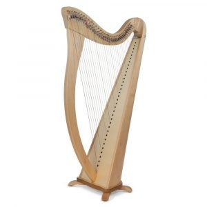 Camac Hermine 34 String Harp, Natural Maple