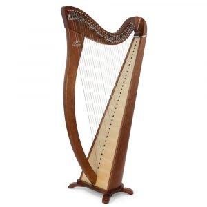 Camac Hermine 34 String Harp, Walnut