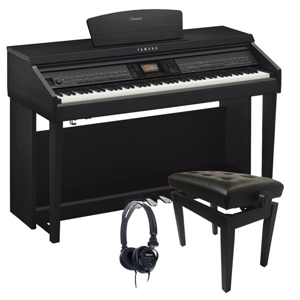 Yamaha Clavinova CVP701 Digital Piano Bundle, Satin Black - FREE Delivery