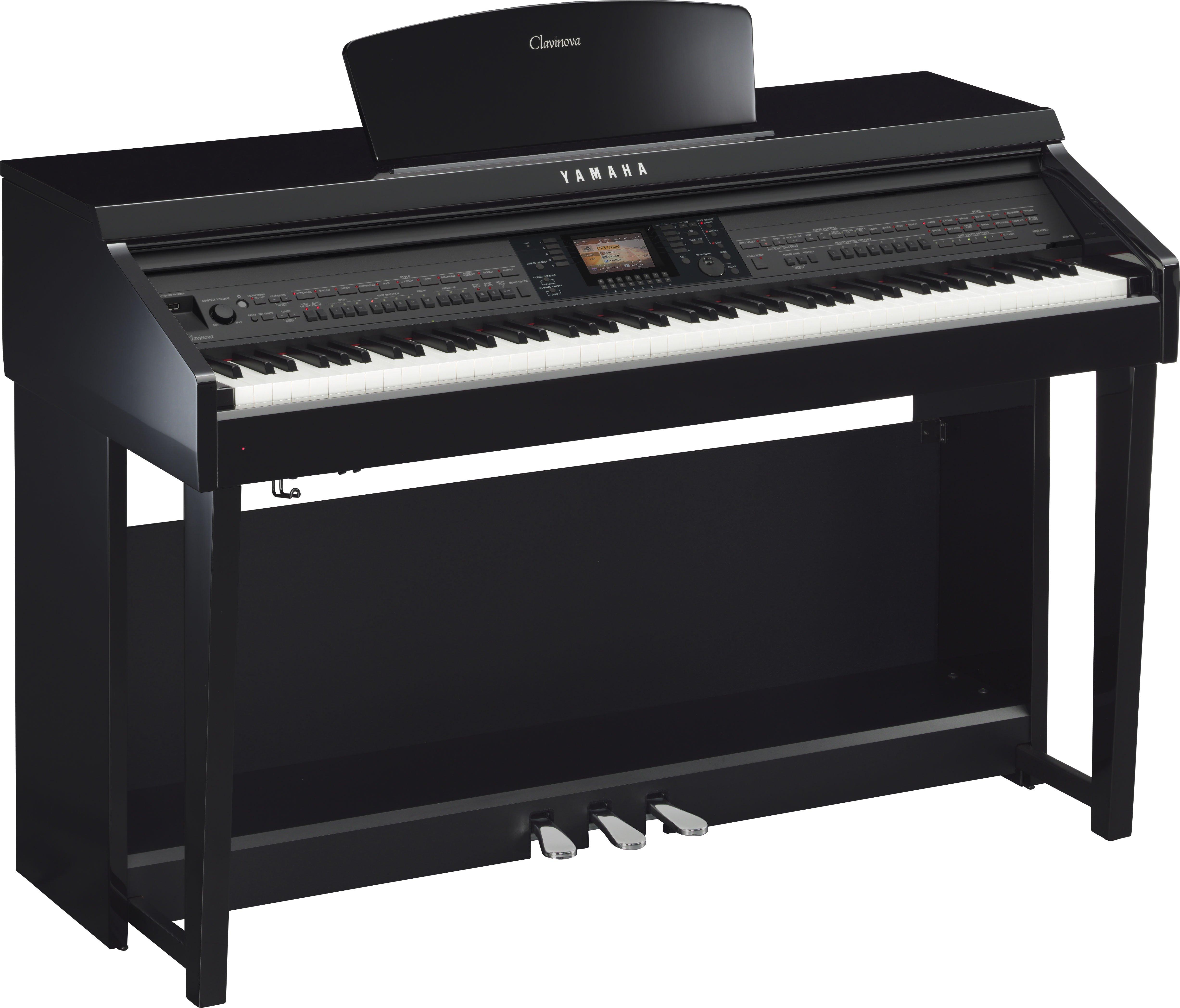 Yamaha Clavinova CVP701 (Polished Ebony) - Includes FREE Delivery (Digital Piano)