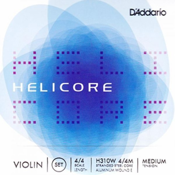 D'Addario Helicore H310W Medium Tension Violin Strings - FREE DELIVERY