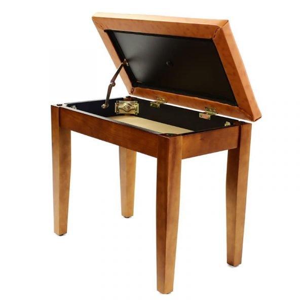 """CODA"" Piano Stool with Book Storage - Satin Cherry"