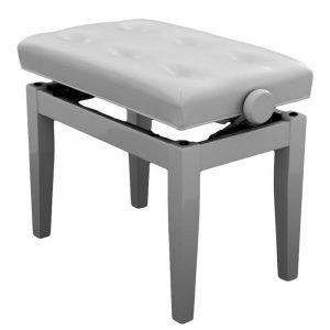 """PRIMA"" Adjustable Piano Stool - Polished White"