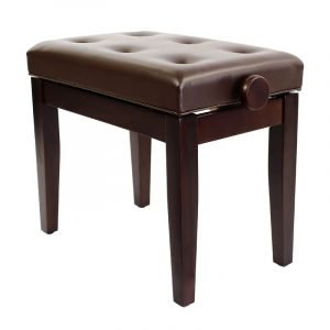"""PRIMA"" Adjustable Piano Stool - Satin Rosewood"
