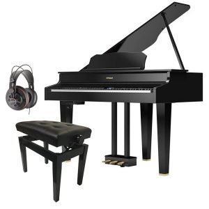 Roland GP607 Digital Grand Piano Bundle, Polished Ebony - Free Delivery - PRICE MATCH GUARANTEE