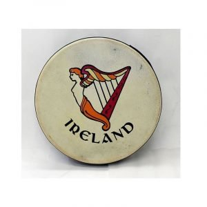 "Koda 12""x3"" Black Bodhran with IRELAND Design"