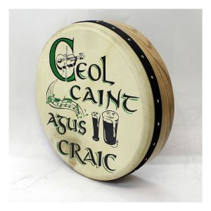 "Koda 16""x4"" Ashwood Tuneable Bodhran with CEOL Design"