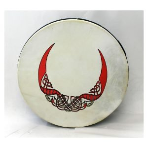 "Koda 16""x4"" Black Tuneable Bodhran with BIRDS Design"