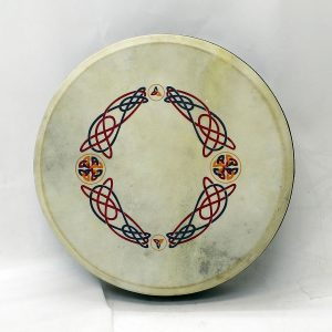 "Koda 16""x4"" Black Tuneable Bodhran with KNOTWORK Design"