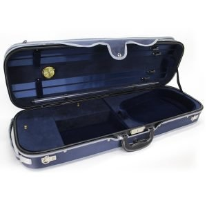 Koda HDVC0711 Wooden 4/4 Size Violin Case with Hydrometer, Blue - FREE DELIVERY