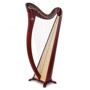 Camac Hermine 34 String Harp, Mahogany Finish
