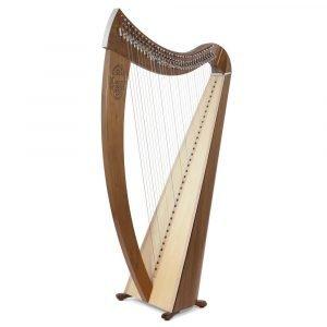 Camac Janet 34 String Harp, Walnut Finish