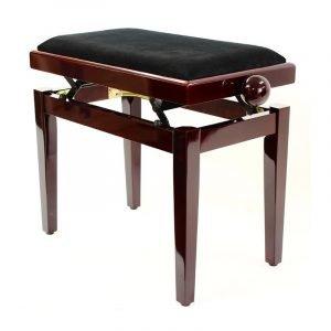 """""""LEGATO"""" Adjustable Piano Stool - Polished Mahogany"""