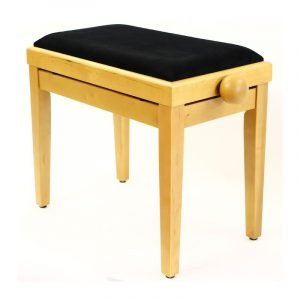 """LEGATO"" Adjustable Piano Stool - Satin Beach"
