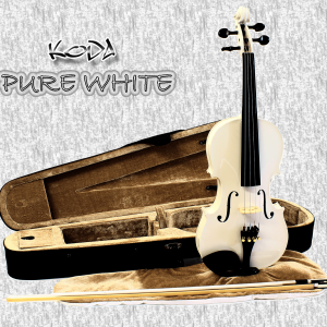 White Violin Outfit - Violin with foam case bow and rosin