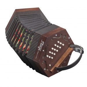 Stagi M5 Concertina Wood Finish M 30 Button Made in Italy