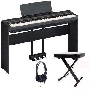Yamaha P125 Portable Digital Piano Bundle, Black - Free Delivery - PRICE MATCH GUARANTEE