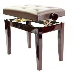 """PRIMA"" Adjustable Piano Stool - Polished Mahogany"