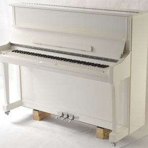 "Steinhoven SU121 Upright Piano, Polished White (121cm, 47.5"") - FREE DELIVERY"