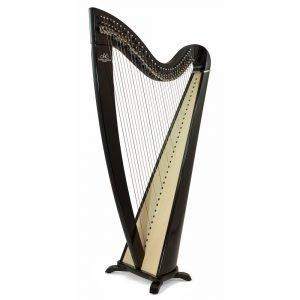 Camac Telenn 34 Gut String Harp, Special Shiny Ebony