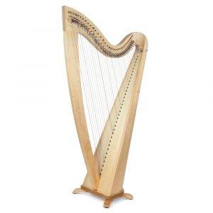 Camac Telenn 34 Gut String Harp, Natural Maple