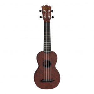 "Koda 21"" Carbon Fiber Soprano BURL DARK WALNUT Ukulele with Black Fingerboard  - FREE DELIVERY"