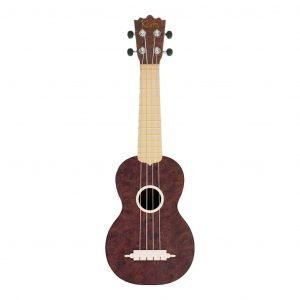 "Koda 21"" Carbon Fiber Soprano BURL DARK WALNUT Ukulele with White Fingerboard  - FREE DELIVERY"