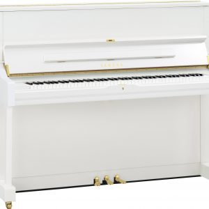 Yamaha U1 Upright Piano, Polished White - Free Delivery - PRICE MATCH GUARANTEE