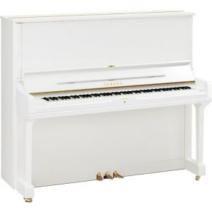 Yamaha YUS3 Upright Piano, Polished White - Free Delivery - PRICE MATCH GUARANTEE