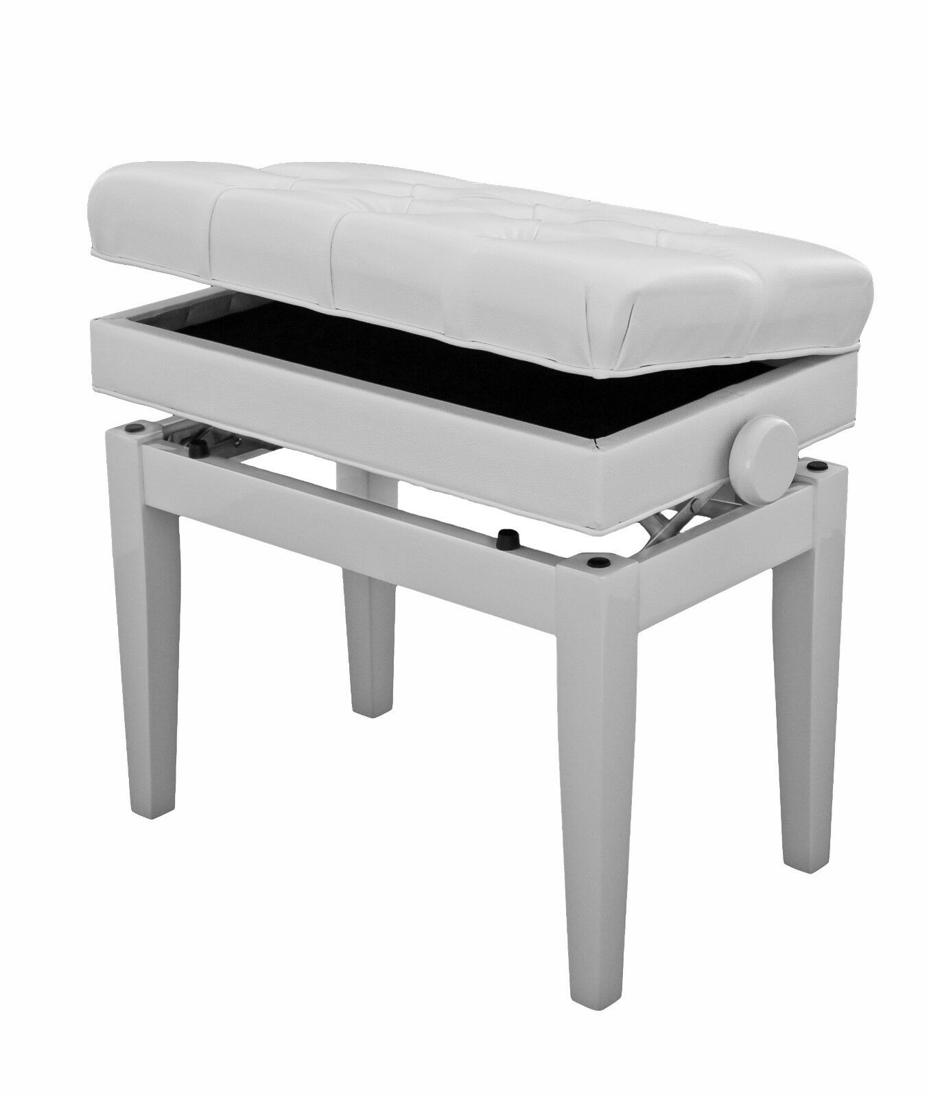 Fabulous Adjustable Piano Stool With Book Storage Polished White Steinhoven Symphony Short Links Chair Design For Home Short Linksinfo