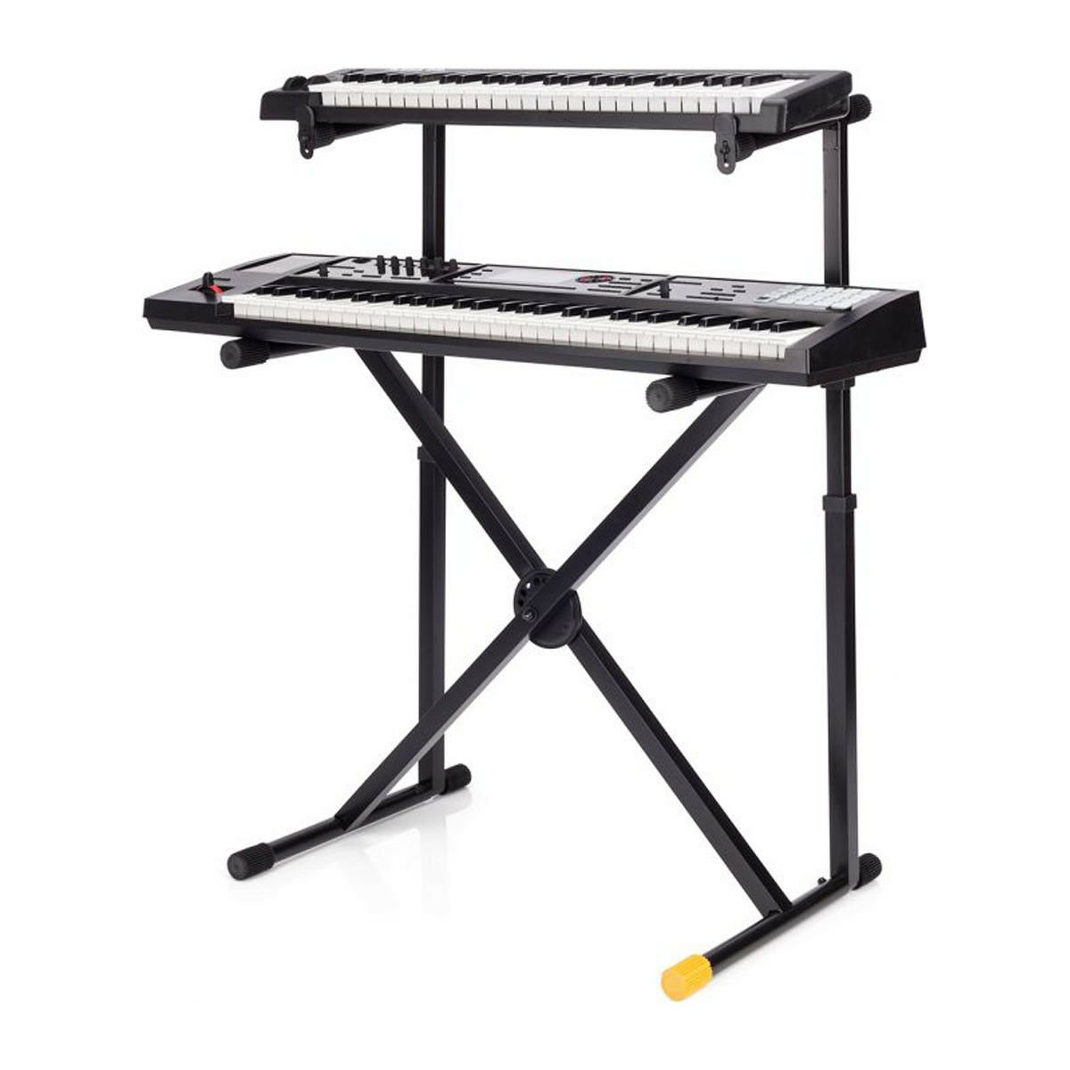 hercules ks210b keyboard stand double tier x ebay. Black Bedroom Furniture Sets. Home Design Ideas